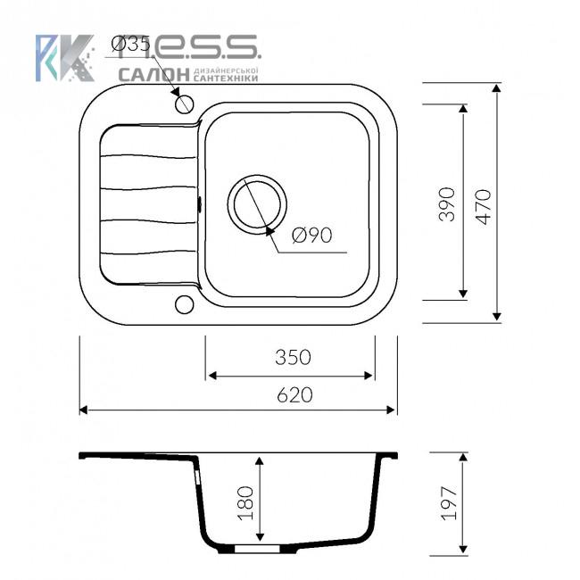 Мойка кухонная Marmorin IGNIS, 435133